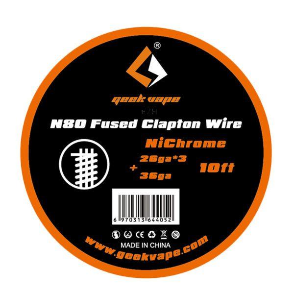 N80 Fused Clapton 26*3/36GA (0.40*3/0.13 mm) Wickeldraht - ZN07