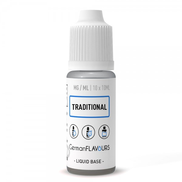 Traditional Base (PG 55% / VG 35% / Wasser 10%) 10 x 10ml