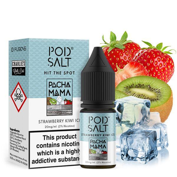 PodSalt Pacha Mama Strawberry Kiwi Ice Nikotinsalz Liquid 10ml