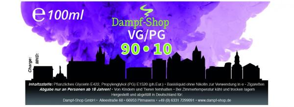 100ml 90/10 Basisflüssigkeit 90% VG / 10% PG