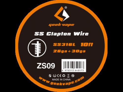 SS Clapton Wickeldraht (SS316L, 26GA + 30GA) - ZS09