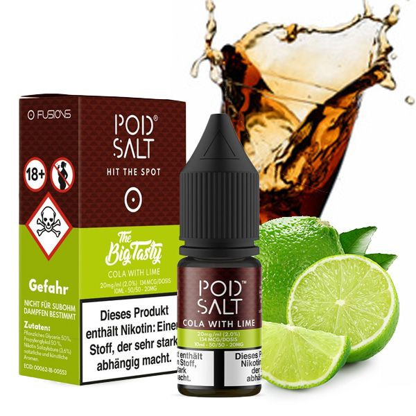 PodSalt Cola with Lime Nikotinsalz Liquid 10ml