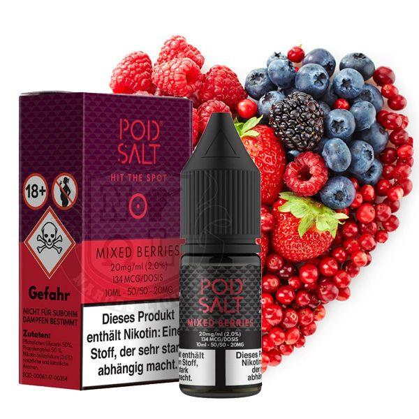 PodSalt Mixed Berries Nikotinsalz Liquid 10 ml